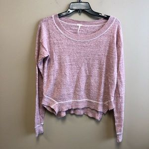 Free People Beach pink sweater top linen blend M